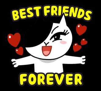 สติกเกอร์ไลน์  LINE characters  Love U Jessica เพื่อนที่ดีที่สุดตลอดกาล