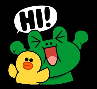 สติกเกอร์ไลน์  LINE characters  Love U leonard & Sally สวัสดี