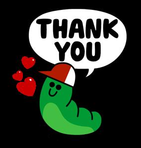 สติกเกอร์ไลน์  LINE characters  Love U Edward ขอบคุณ