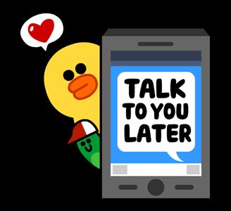 สติกเกอร์ไลน์  LINE characters  Love U  Sally ไว้คุยกันทีหลัง