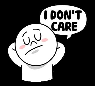 สติกเกอร์ไลน์  LINE characters  Love U Moon ฉันไม่แคร์