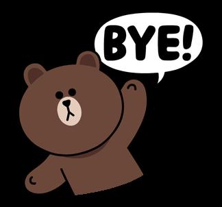สติกเกอร์ไลน์  LINE characters  Love U Brown บาย