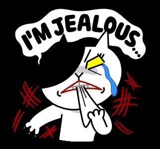 สติกเกอร์ไลน์  LINE characters  Love U Jessica หวาดระแวง