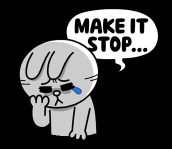 สติกเกอร์ไลน์  LINE characters  Love U Cony ทำให้มันหยุด