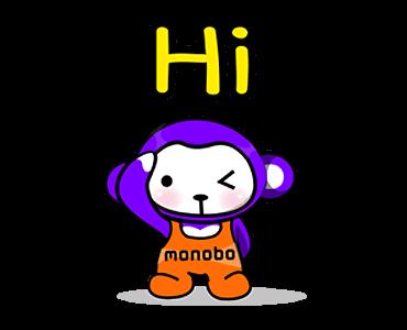 สติกเกอร์ไลน์ Monobo & Monokids  Hi