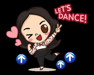 สติกเกอร์ไลน์ Playpark Let\'s Dance!