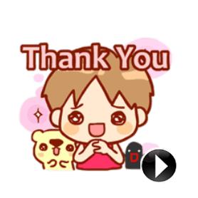 สติ๊กเกอร์ไลน์ชุด Sana - Part 2 Get Animated!