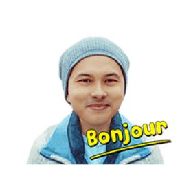สติ๊กเกอร์ไลน์ชุด Bonjour Nic & Mar