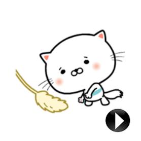 สติ๊กเกอร์ไลน์ชุด Animated Uru-nyan Stickers!