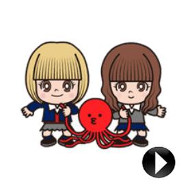 สติ๊กเกอร์ไลน์ชุด Tako & Renshiba: Animated Stickers