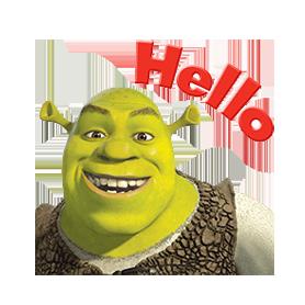 สติ๊กเกอร์ไลน์ชุด สติ๊กเกอร์ Shrek