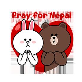 สติ๊กเกอร์ไลน์ชุด Pray for Nepal