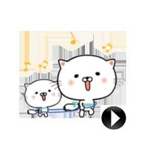 สติ๊กเกอร์ไลน์ชุด Uru-nyan Returns:Cat Chatter