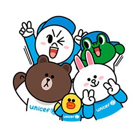 สติ๊กเกอร์ไลน์ชุด LINE X UNICEF เซ็ตพิเเศษ