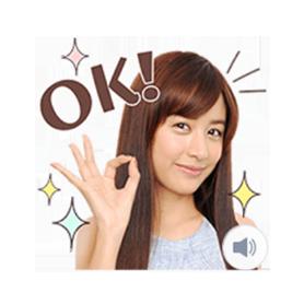 สติ๊กเกอร์ไลน์ชุด สติ๊กเกอร์มีเสียง Mizuki Yamamoto