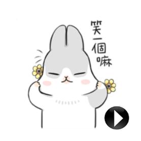สติ๊กเกอร์ไลน์ชุด Moving Machiko Rabbit