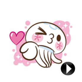 สติ๊กเกอร์ไลน์ชุด Clara the Jellyfish Animatad Stickers