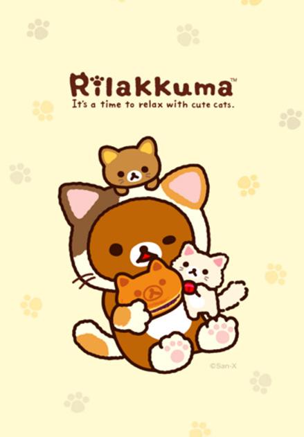 สติ๊กเกอร์ไลน์ชุด Rilakkuma Purrrfectly Relaxed
