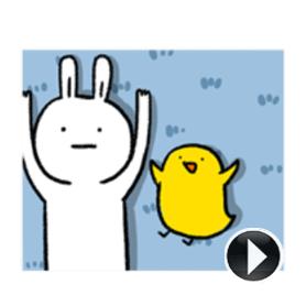 สติ๊กเกอร์ไลน์ชุด Lazy Rabbit & Mr.Chu 3
