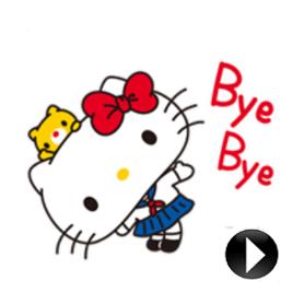สติ๊กเกอร์ไลน์ชุด Hello Kitty: Simple and Sweet