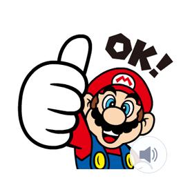 สติ๊กเกอร์ไลน์ชุด Super Marioสติกเกอร์อนิเมชั่น
