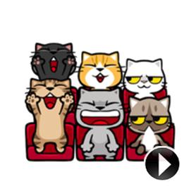 สติ๊กเกอร์ไลน์ชุด Meow Zhua Zhua - Part 4